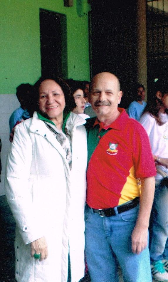 Manoel e Lú Ianzer na Escola Arnaldo Faria - Bagé