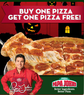 Papa John's has rolled out its free pizza deal for Sept. , too. You can get one free large one-topping pizza Sept. 15 and 16 when you place an order of at least $12 through the Papa John's.