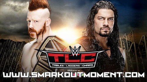 WWE Tables Ladders Chairs 2015 PPV Roman Reigns vs Sheamus