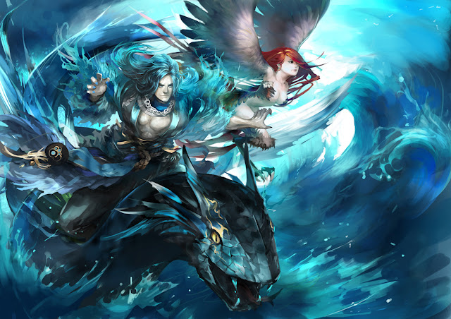 Sea Monster Harpy naturaljuice hd wallpaper desktop pc wallpaper a48