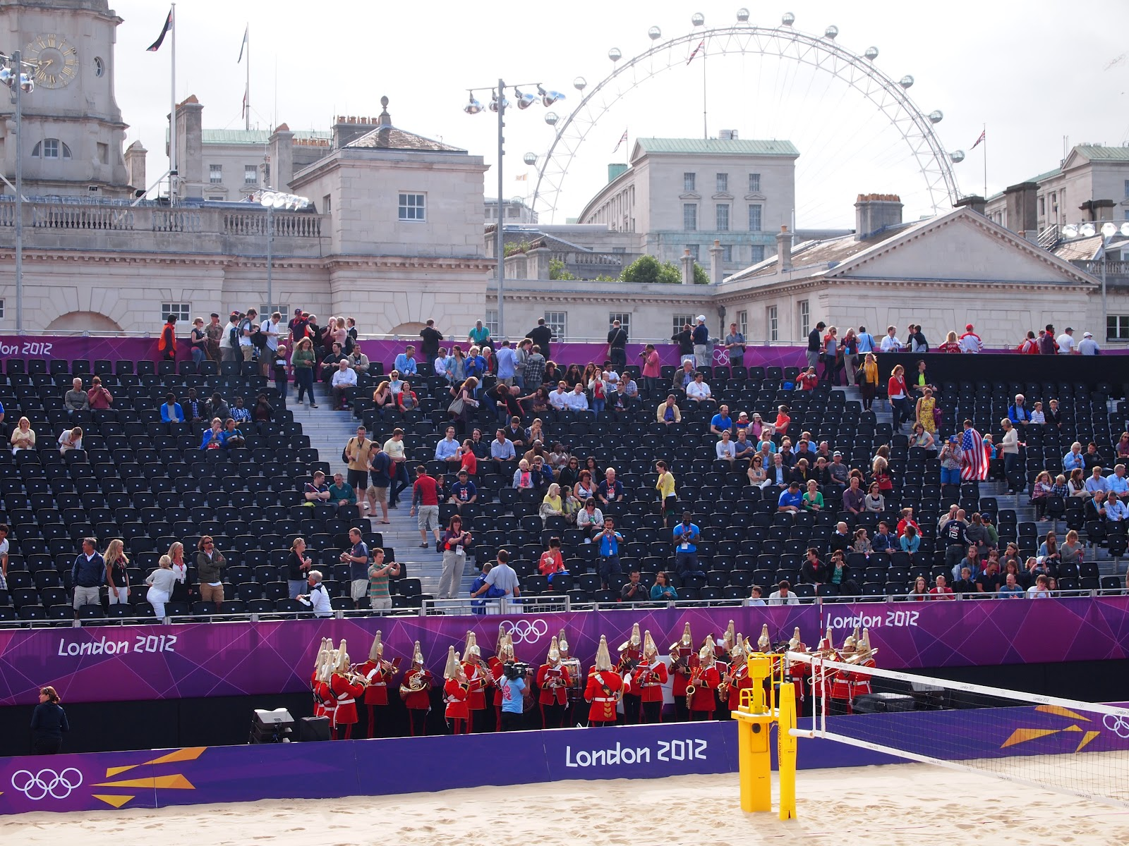 I don't know if the bureaucrats complained about the beach volleyball being ...