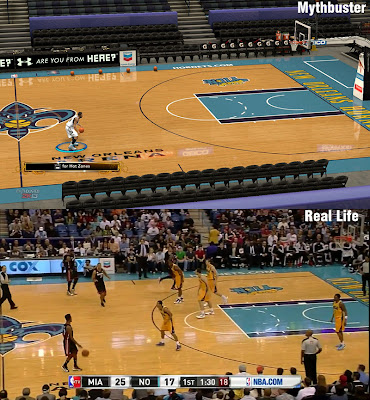 NBA 2K13 New Orleans Court Comparison 2K vs Real Life