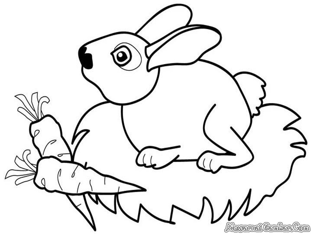 gambar - gambar mewarnai kelinci ini kepada teman-teman di Facebook