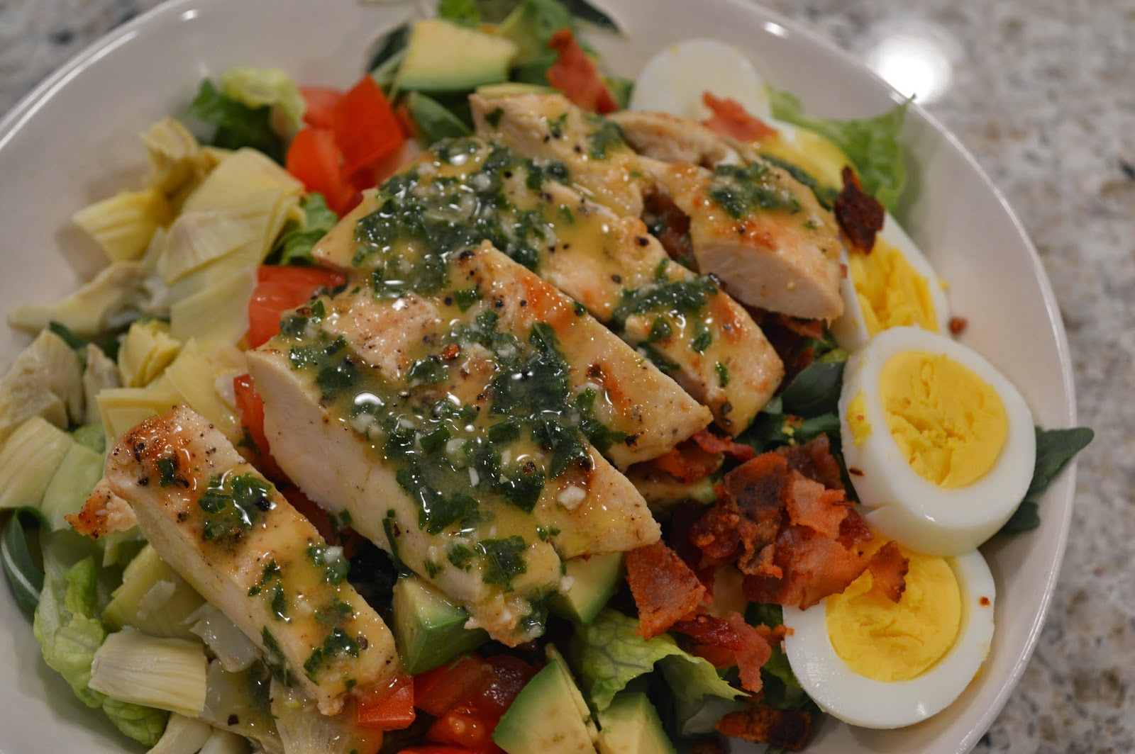 peace. love. & good food.: Cobb Salad with Basil Vinaigrette