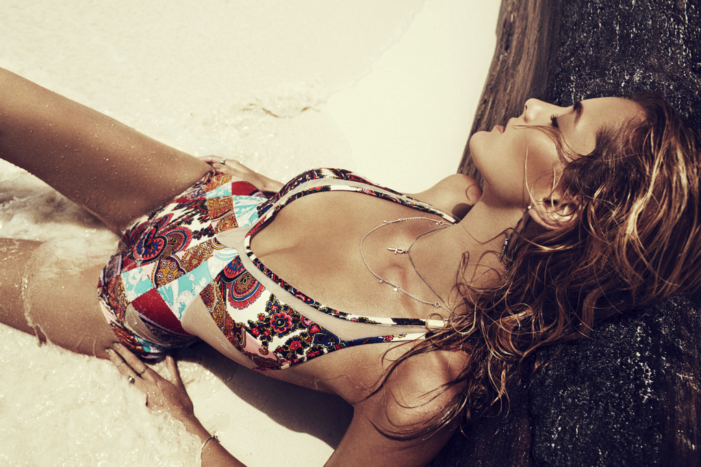 Denisa Dvorakova for Zimmermann FW SwimWear 2012