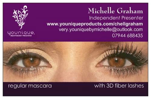 younique by michelle my new business card. Black Bedroom Furniture Sets. Home Design Ideas