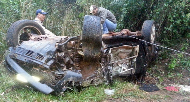 Acidente na 487 envolvendo Veículo da Saúde de Pitanga e caminhonete de Roncador
