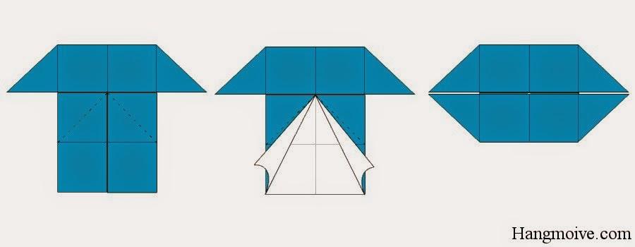 Bước 7: Làm tương tự như vậy với mép dưới của hình chữ nhật.