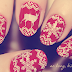 Zimowo- świąteczne paznokcie.