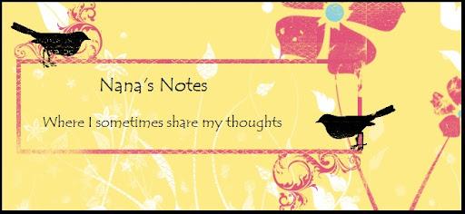 Nana's Notes