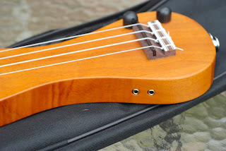 eleuke peanut ukulele bridge and controls