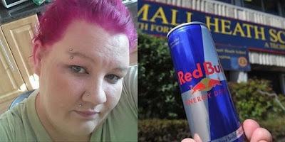 Mujer dice que ella está quedando ciega después de beber 28 latas de Red Bull Un Día