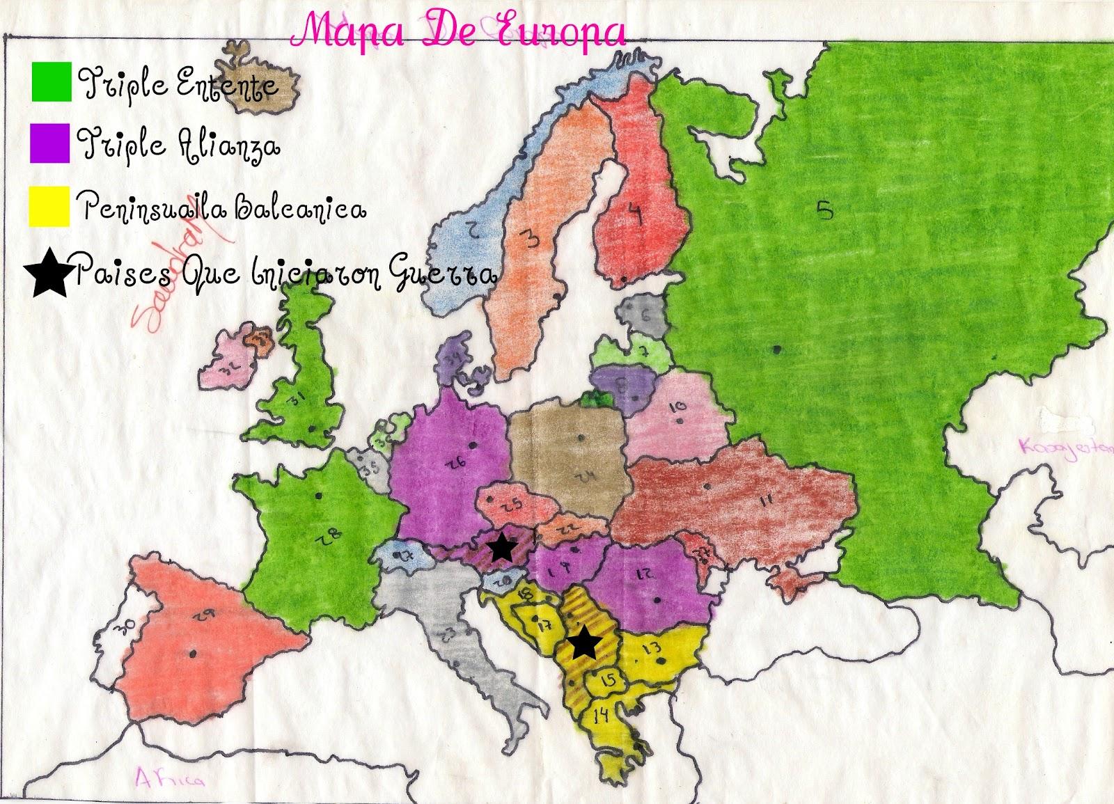 Blog Sociales Mapa De Europa Paises Enumerados Luisa Ortega 9A