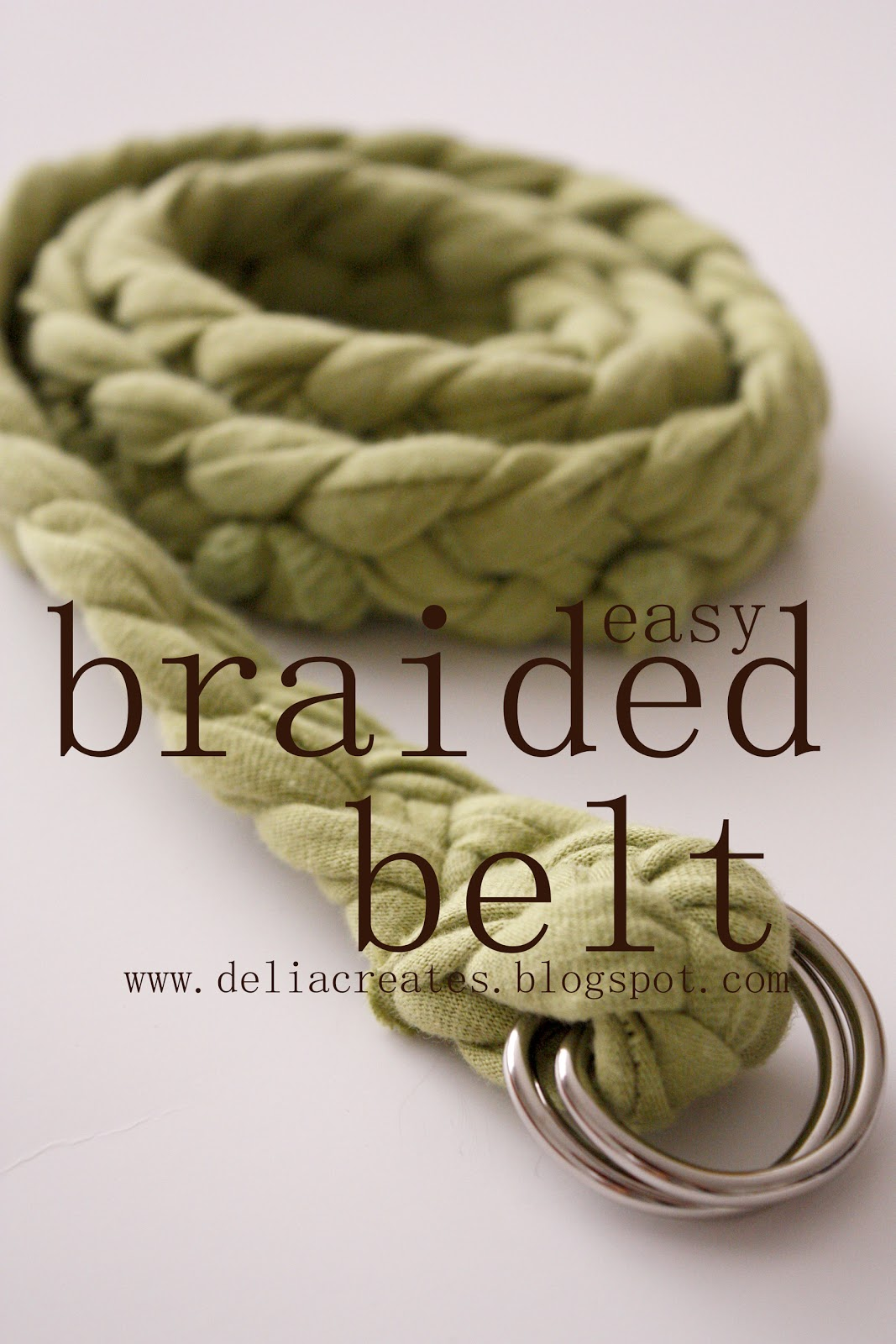 how to make a wide braided fabric belt