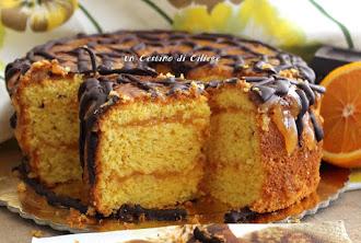 chiffon cake all'arancia e cioccolato