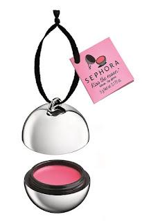 Bálsamo de labios de Sephora con forma de bola para colgar en el Árbol de Navidad