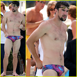 Diggin' to China: Michael Phelps in a Speedo, just because