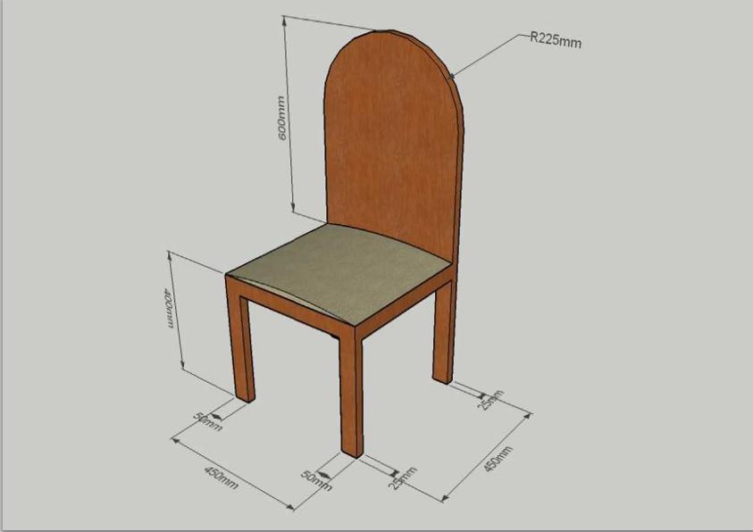 Resultado de imagen de silla sketchup