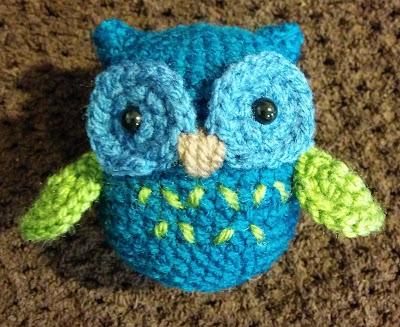 Amigurumi crochet owl