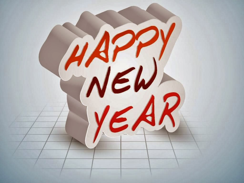 Happy New Year 2016 3D Photo