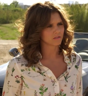 "Sutton's Zara Floral Blouse with Appliques Collar The Lying Game Season 2, Episode 10 ""To Lie For"""