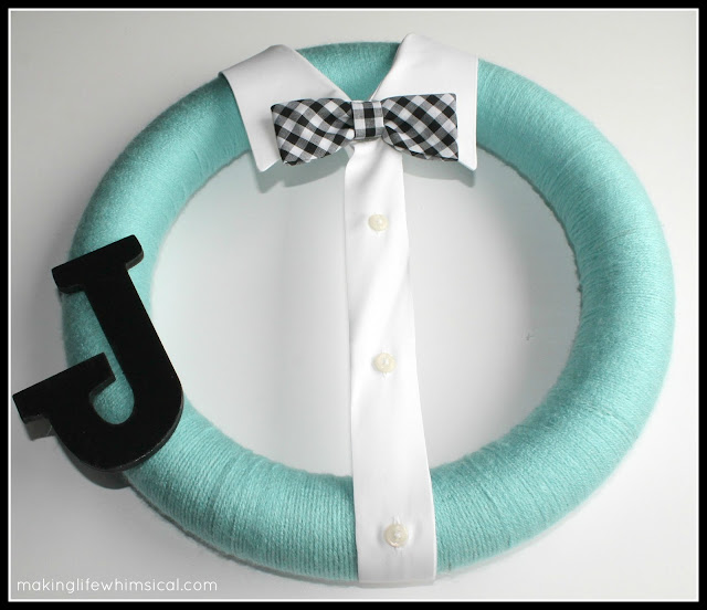 DIY Little Man Bow Tie Wreath