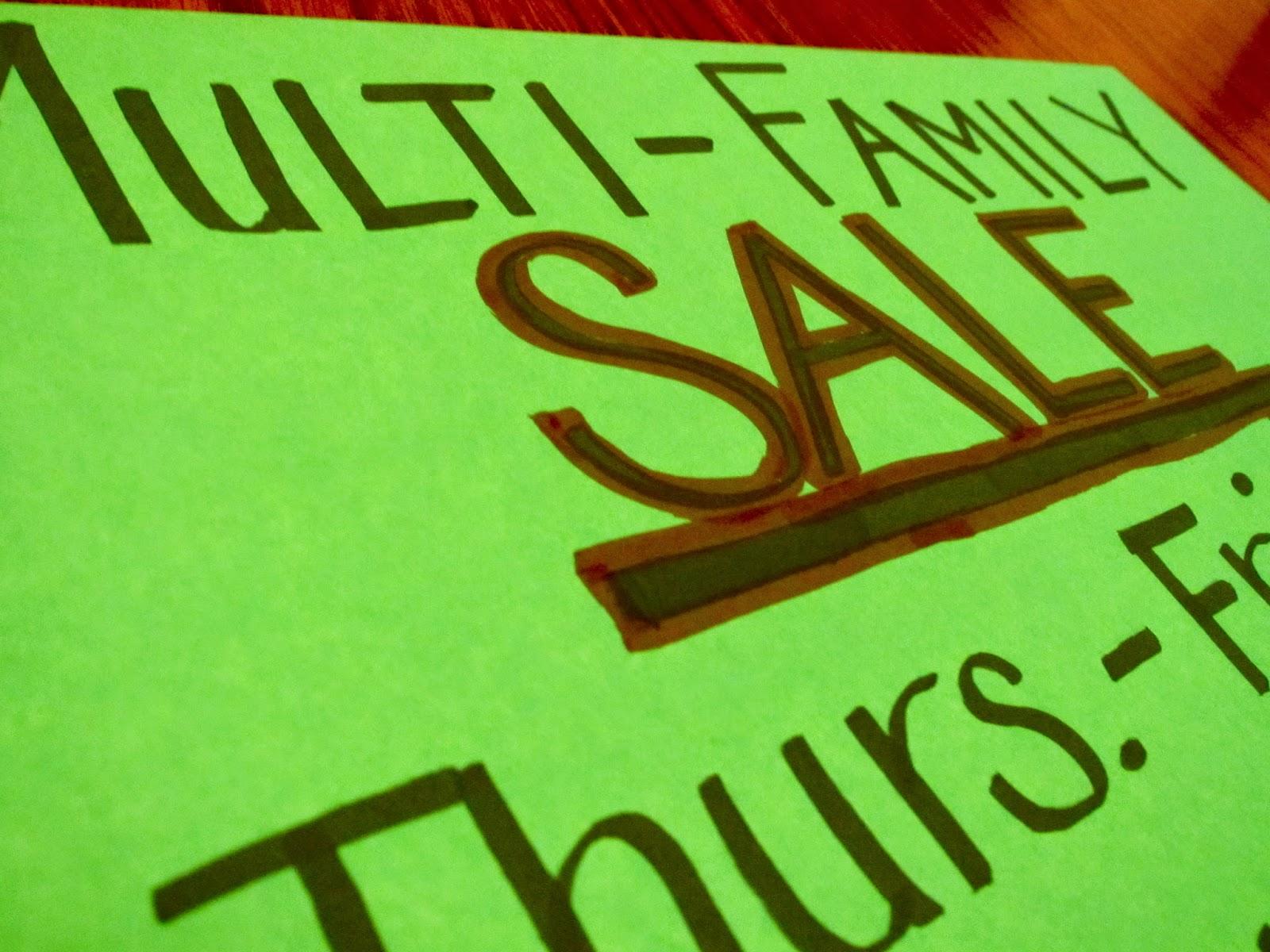 Garage Sale Adoption Fundraise