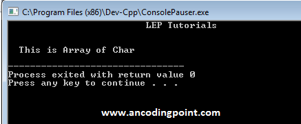 Array of Char to String Conversion in C++