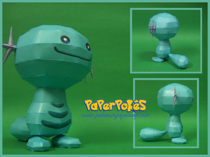 Pokemon Wooper Paper Model