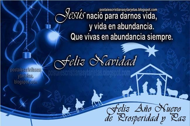 Feliz Navidad Y Prosperidad en Año Nuevo. Postales Cristianas y tarjetas. imágenes cristianas para compartir con Amigos en Navidad, diciembre 2012, para mi muro de facebook, twitter. Tarjetas bonitas.