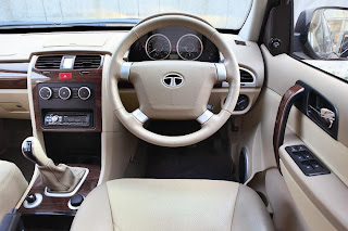 new tata safari storme steering and interior