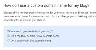 blogger help domain