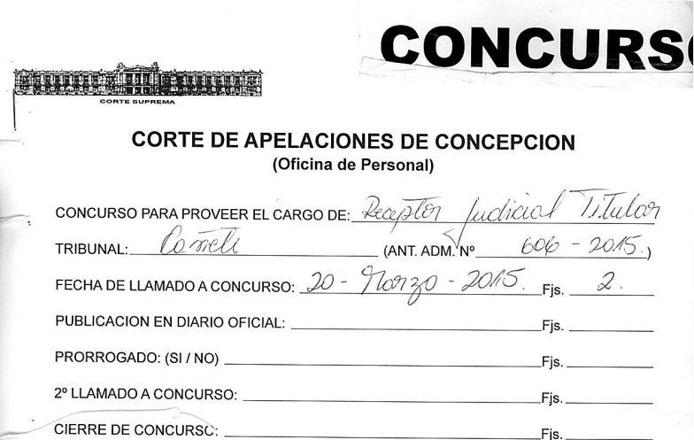 Corte elabora terna para proveer cargo de receptor for Juzgado de letras