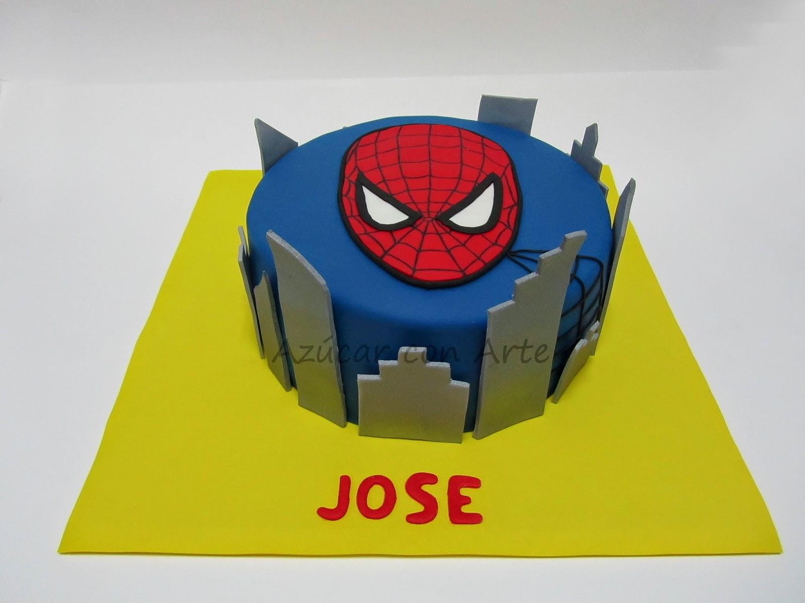tarta spiderman, spiderman cake, gluten free, sin gluten | azucar con arte