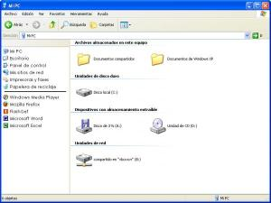 barra lateral windows xp integrar explorador buscar