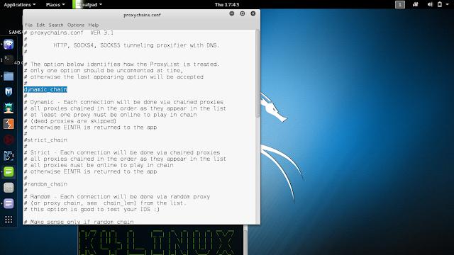 kali linux 2.0 proxychains kali sana