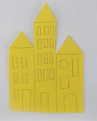 χαρτί, χαρτόνι, κτίρια, σπίτια, χειροτεχνίες,