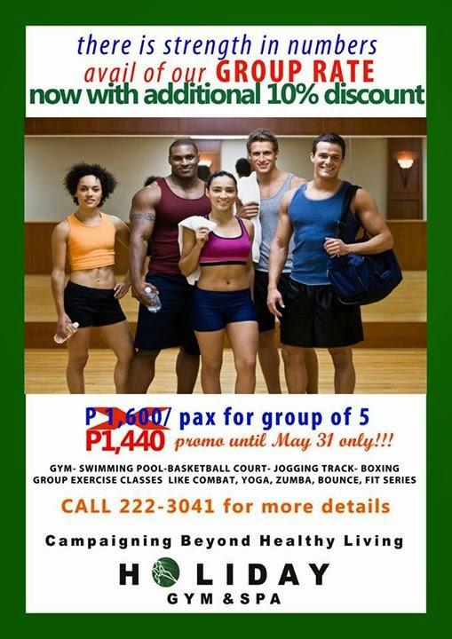 D.I.G.G.DAVAO: Holiday Gym & Spa - Group Rate till May 31, 2015