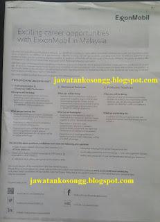 Exxon Mobil Malaysia Kerja Kosong
