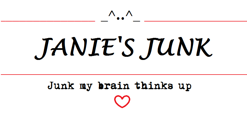 Janies Junk.......Junk my brain thinks up.