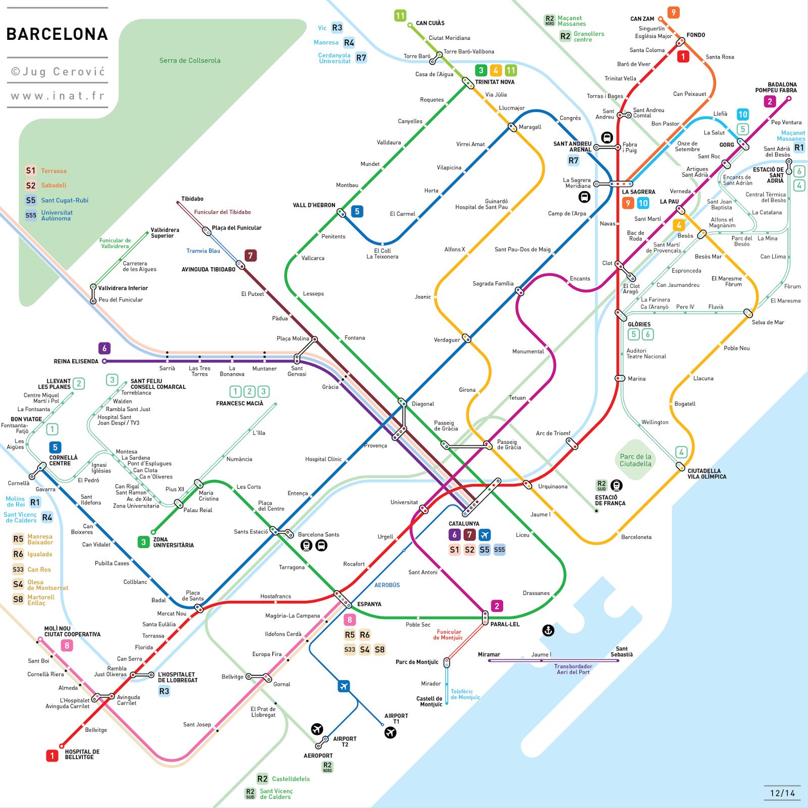 Barcelona's Railway System by Jug Cerović