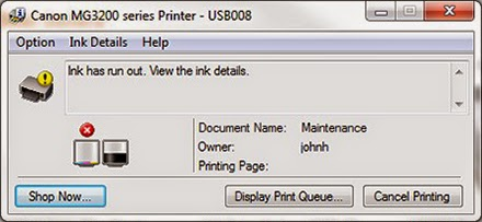 Cara Mengatasi Run Out Atau Tinta Telah Habis Pada Printer Canon