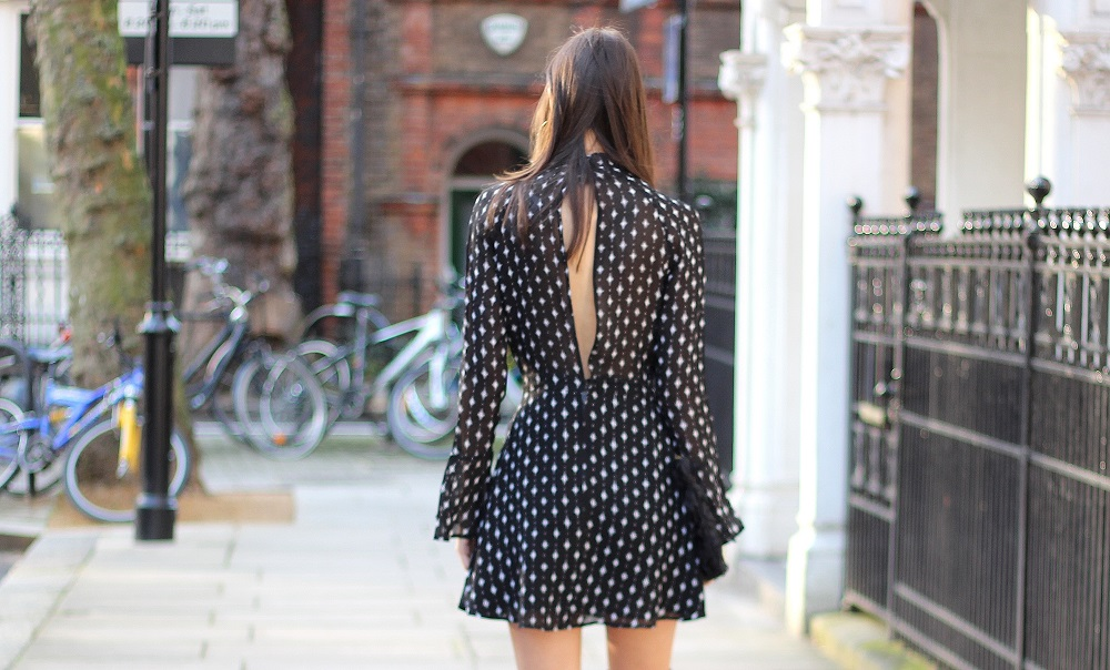 open back dress worn by peexo fashion blogger