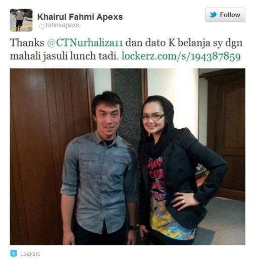 Gambar Apek Makan Tengah Hari Dengan Datuk Siti Nurhaliza