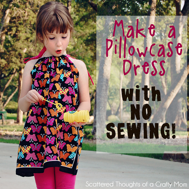 how to make a pillow case dress without sewing