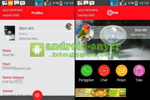 Cara membuat akun profil Atme - @ME di Android gratis terbaru