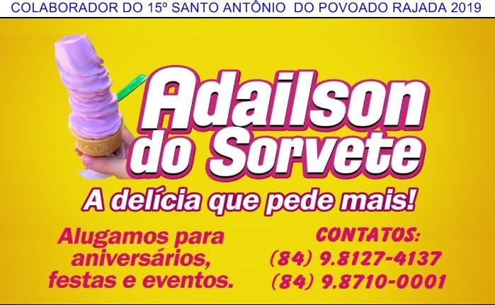 PUBLICIDADE: ADAILSON DO SORVETE C. dos DANTAS