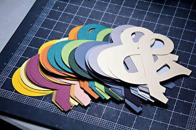 Tutorial for cardstock ampersand, the cardstock cutouts