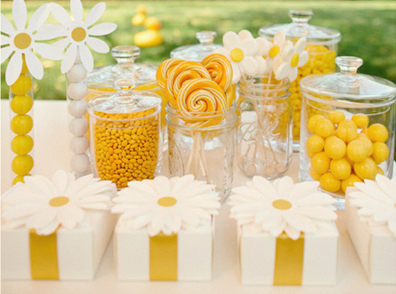 Yellow amp Daisy Themed Birthday Party BAS Blog : 5 daisy party yellow summer party by darcy miller martha stewart from brunchatsaks.blogspot.com size 575 x 427 jpeg 210kB