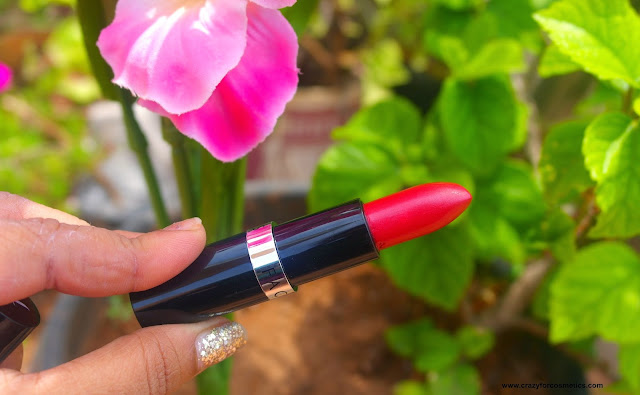 review and swatches of faces canada go chic lipstick in rock solid